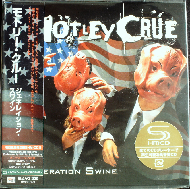 Motley Crue - Generation Swine Japan SHM-CD Mini LP UICY-93496