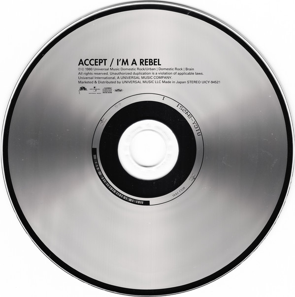 Accept - I'm A Rebel Japan SHM-CD Mini LP OBI UICY-94521