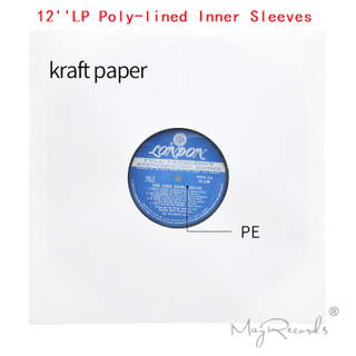 20 Heavyweight Anti-static White Kraft Paper Poly-lined Inner Sleeves For 12'' LP Record Vinyl High Quality