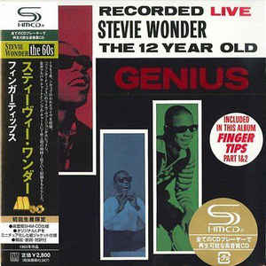 Little Stevie Wonder Recorded Live 12 Year Old Genius Japan SHM-CD Mini LP UICY-93865