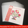 10PCS Thicken PVC Resealable Outer Sleeves for 12'' Single LP Gatefold 2LP 10'' Vinyl 7 '' Record Envelope