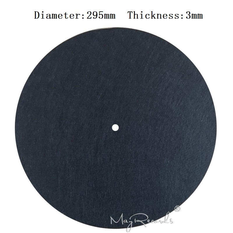 3MM Black Anti-static Slipmat 12'' Felt Record Mat for Phonograph Turntable