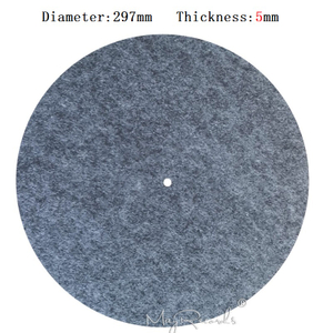 5MM Grey Anti-static Slipmat 12'' Felt Record Mat for Phonograph Turntable Vinyl