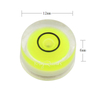 4PCS 12*6mm Arcylic Mini Bubble Level Tools Horizontal Instrument for Turntable